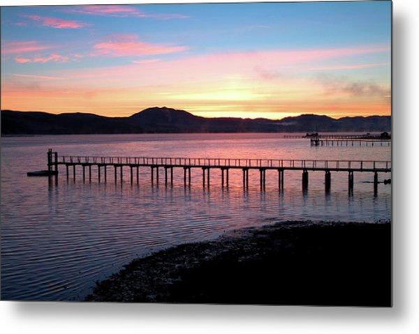 Sunrise Over Tomales Bay Metal Print