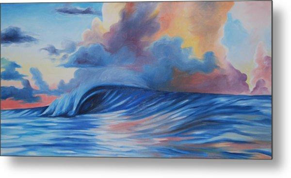 Sunrise Surf Metal Print by Katherine  Fyall