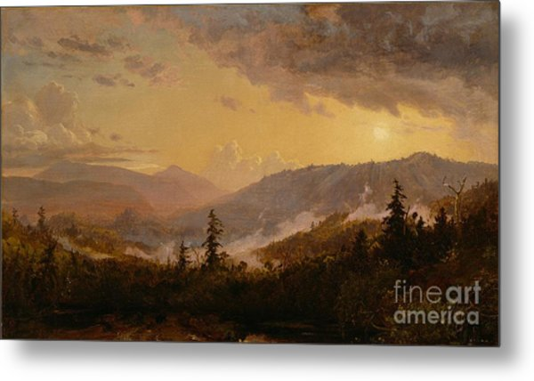 Sunset After A Storm In The Catskill Mountains Metal Print