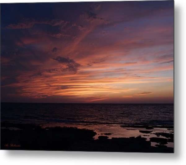Sunset At Achziv Beach Metal Print