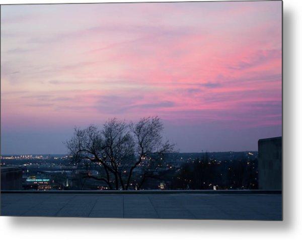 Sunset From Liberty Memorial Metal Print