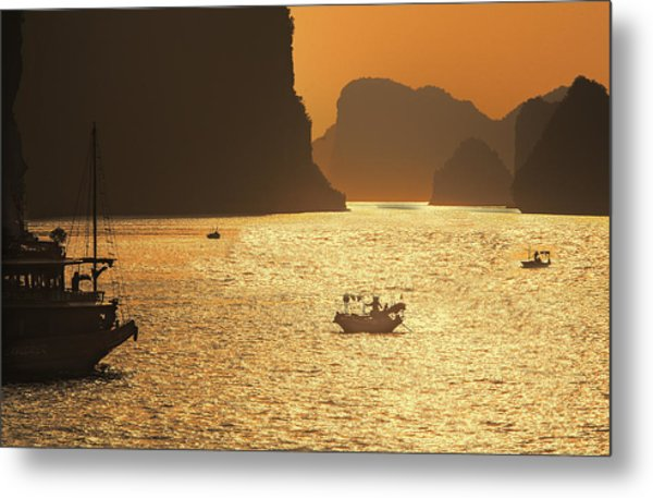 Sunset Ha Long Bay IIi Metal Print