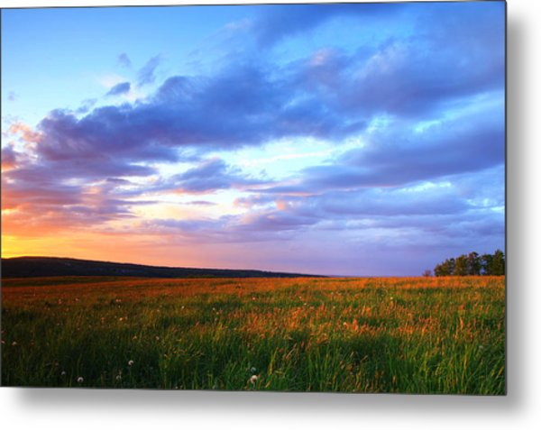 Sunset In Ithaca South Hill Metal Print