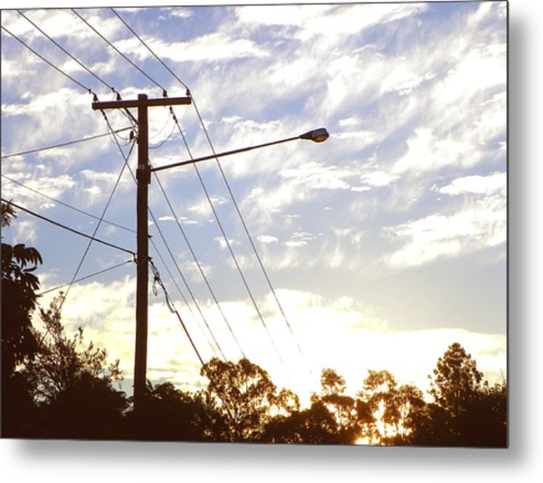 sunset in March Metal Print by Evguenia Men