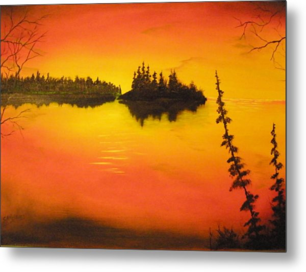 Sunset Lake1 Metal Print by Ron Sargent
