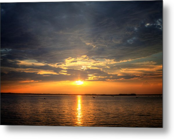Sunset On Lake Hartwell Metal Print