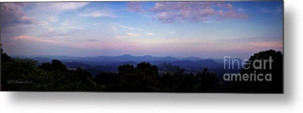 Sunset On The Blue Ridge Metal Print