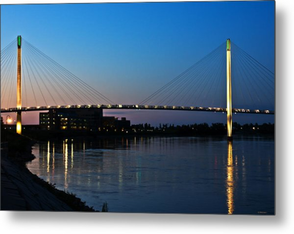 Sunset On The Bob Kerry Pedestrian Bridge Metal Print