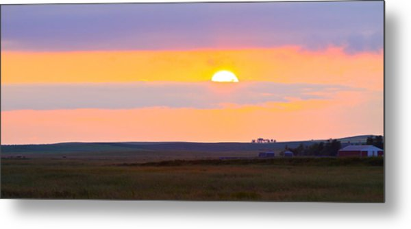 Sunset On The Reservation Metal Print
