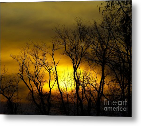 Sunset Over Our Free Land Metal Print