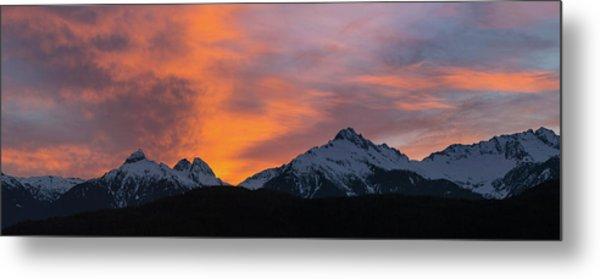 Sunset Over Tantalus Range Panorama Metal Print