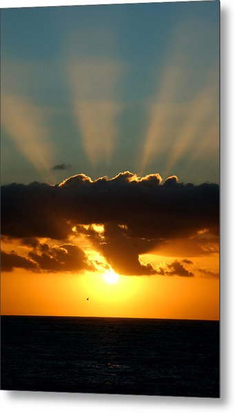 Sunset Rays Metal Print by Val Jolley