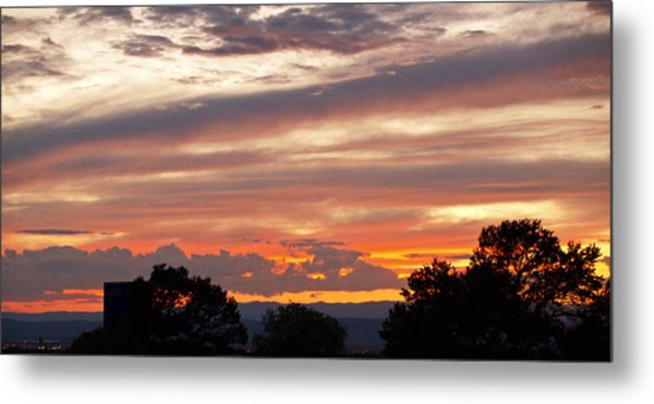 Sunset Santa Fe Metal Print by James Granberry