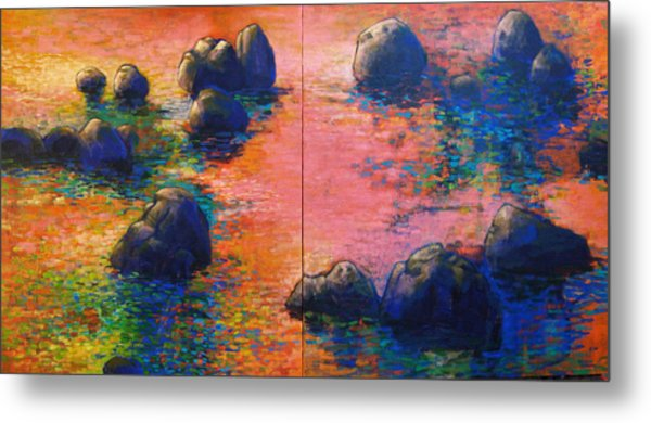 Sunset Stream Metal Print by Dale  Witherow