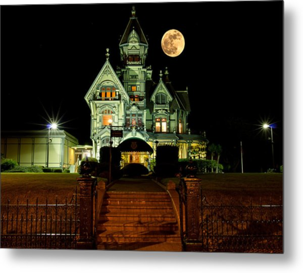 Super Moon Over Carson Mansion Metal Print