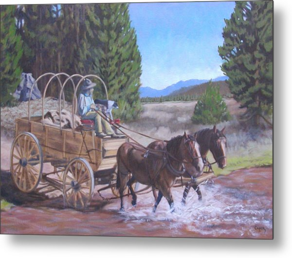 Supply Wagon Metal Print