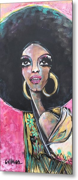 Metal Print featuring the painting Supreme Love For Diana Ross by Laurie Maves ART