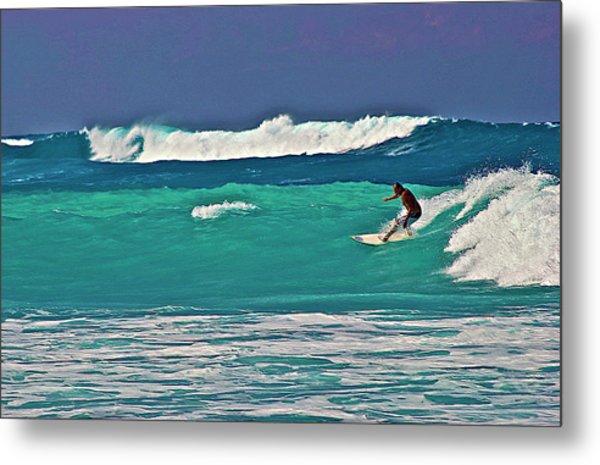 Surfing At Anaeho'omalu Bay 2 Metal Print