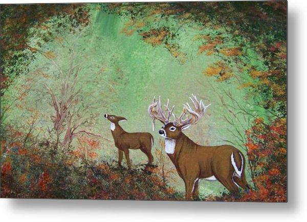 Surreal Deer Metal Print by Jena Gillam