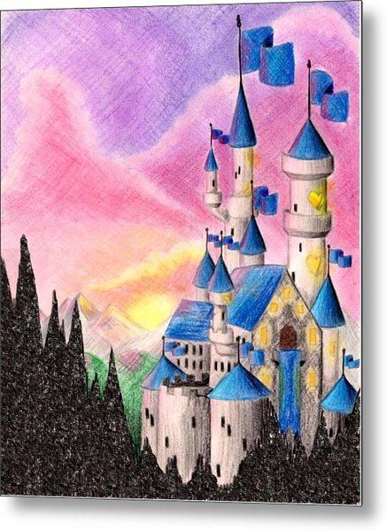 Sweet Heart Castle Metal Print by Scarlett Royal