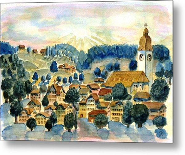 Swiss Village Metal Print
