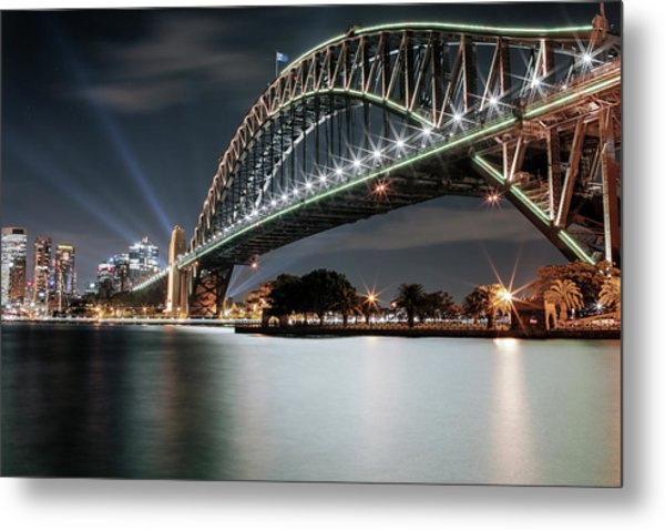 Sydney Harbour Lights Metal Print