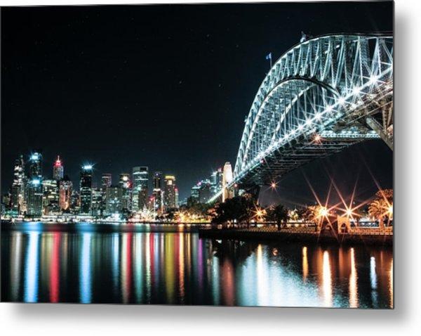 Sydney Harbour Sparkle Metal Print