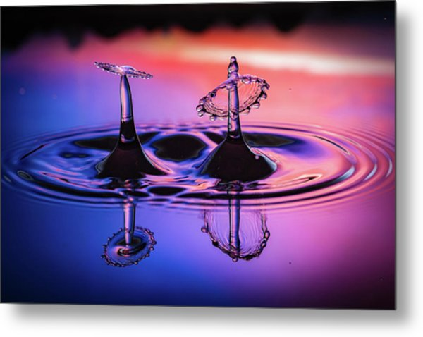 Synchronized Liquid Art Metal Print