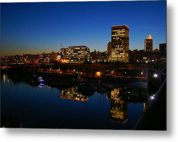 Tacoma Reflections Metal Print