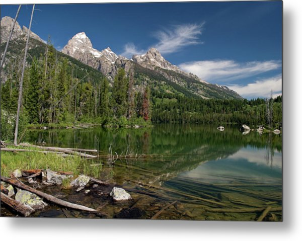 Taggart Lake Visit Www.angeliniphoto.com For More Metal Print by Mary Angelini