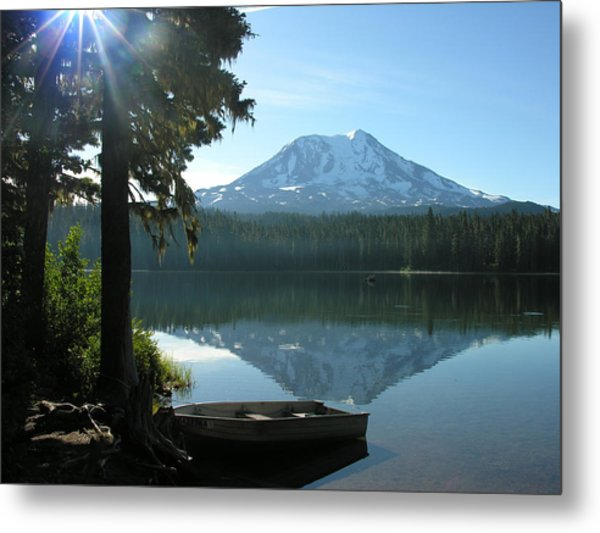 Takhlakh Lake Mt. Adams Metal Print by Mel Crist
