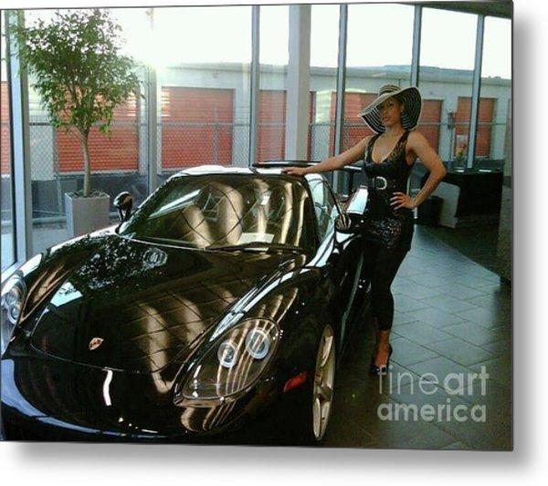 Talisa Hartleys Sports Cars And Big Muscles Metal Print