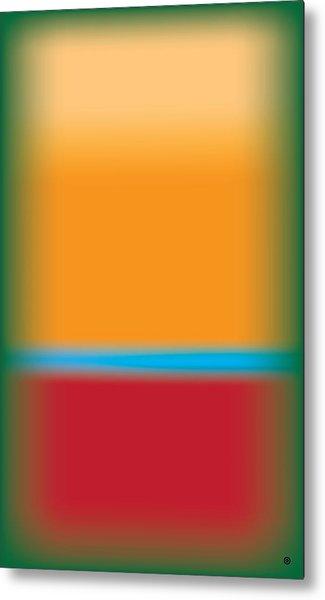 Tall Abstract Color Metal Print