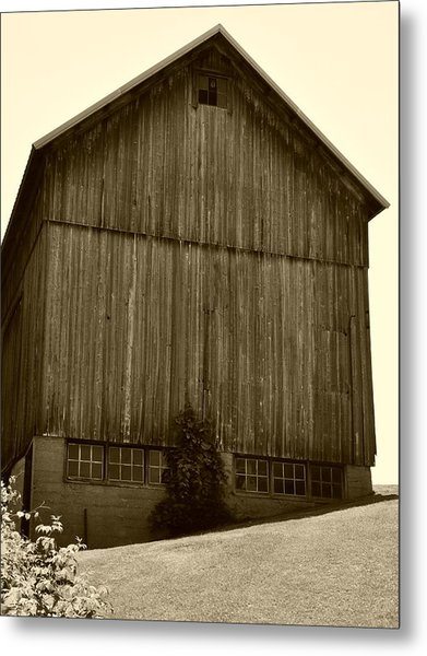 Tall Barn On Hillside Metal Print