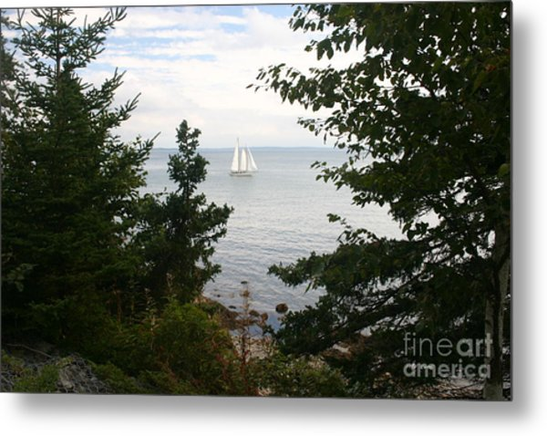 Tall Ship Metal Print by Dennis Curry