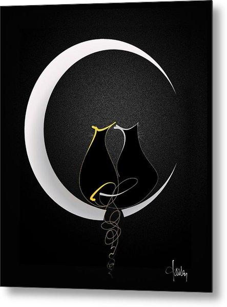 Talleycats - Moonglow Metal Print