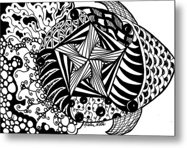 Tangle Fish Metal Print by Kristen Watts