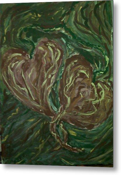 Tangled Hearts Metal Print by Brenda Adams