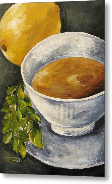 Tea With Mint And Lemon Metal Print by Torrie Smiley