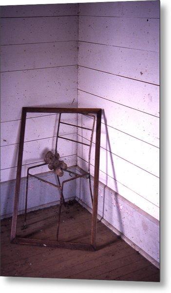 Teddy-bear Chair Corner Metal Print by Curtis J Neeley Jr