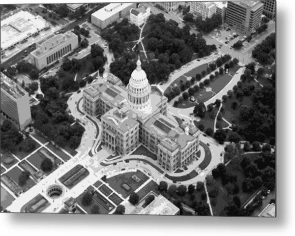 Texas Capitol Bw10 Metal Print