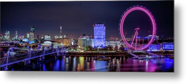 Thames Panorama Metal Print