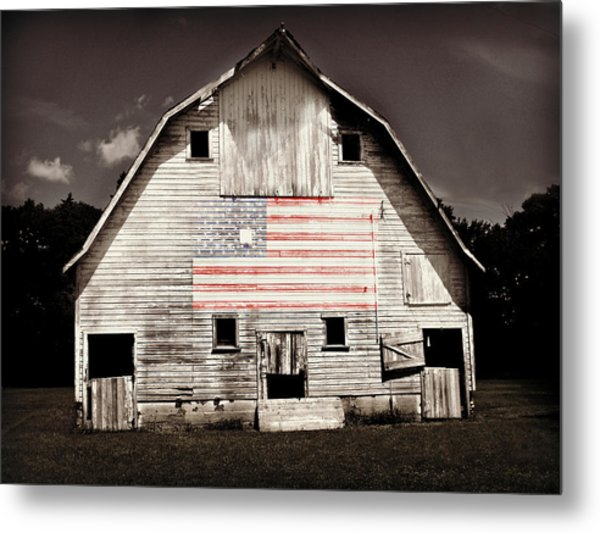The American Farm Metal Print