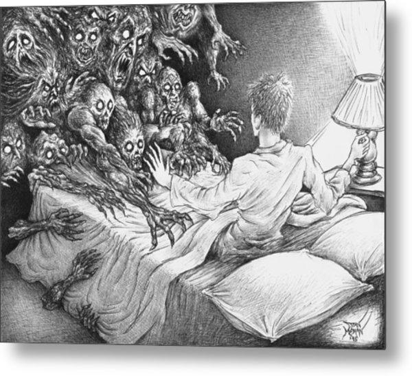The Bedside Lamp Metal Print