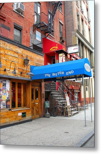 The Bitter End New York-greenwich Village Metal Print by Candace Garcia