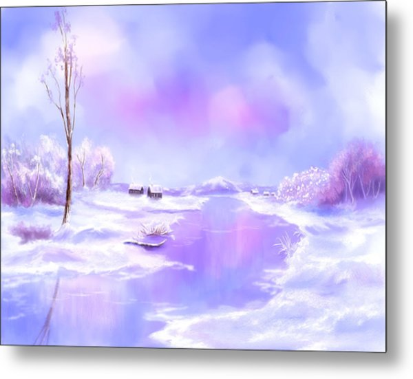 The Blues Of Winter Metal Print