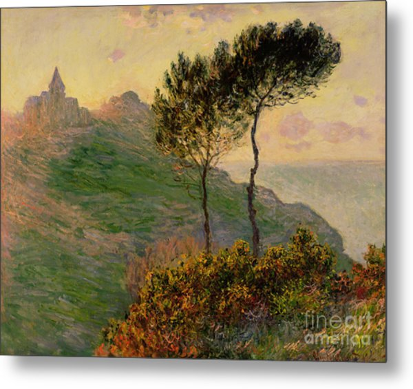 The Church At Varengeville Against The Sunlight Metal Print