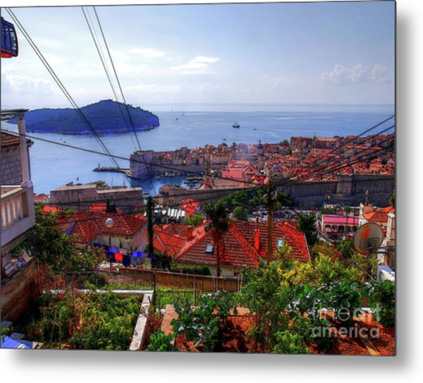 The Colourful City Of Dubrovnik Metal Print