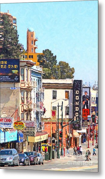 The Condor On Broadway And Columbus Street In San Francisco Metal Print