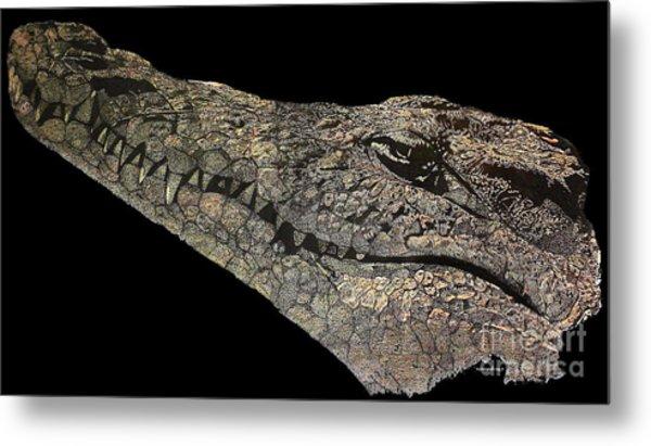 The Crocodile Metal Print